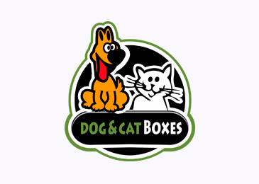 Logo Design Dog Cat Boxes