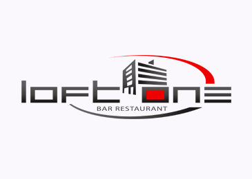 Logo Design Loft One Bar Restaurant