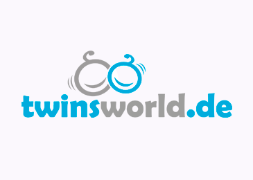 Logo Design Twins World Zwillinge Babies