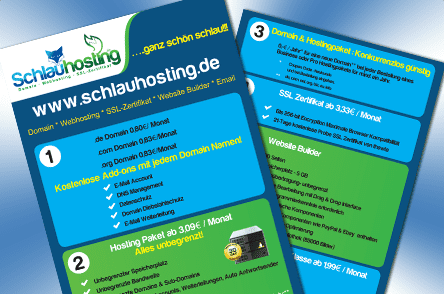 flyer-design-schlauhosting
